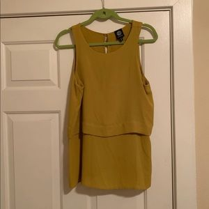 Mustard blouse from Nordstrom